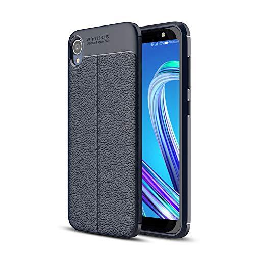 Asus ZenFone Live (L1) ZA550KL 5.5' Custodia,HERCN Ultra Sottile Anti-graffio Antiscivolo Resistente Custodia Silicone Case Molle di TPU Case Cover per Asus ZenFone Live (L1) ZA550KL Smartphone (Blu)