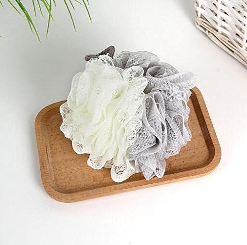 高原下バスNANAGOTEN 泡立てネット ボディースポンジ 細かいネット 柔らかい ボールボディ 背中も洗えるシャボンボール 花形
