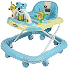 PANDA Creation Adjustable Musical Walker (Blue)