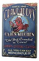 nostalgic Fun Seafood 金属板ブリキ看板警告サイン注意サイン表示パネル情報サイン金属安全サイン