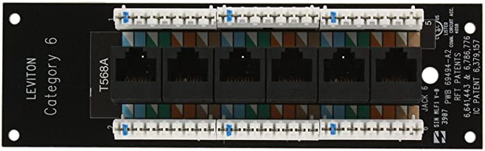 Leviton 47611-C6 Category 6 Voice and Data Board