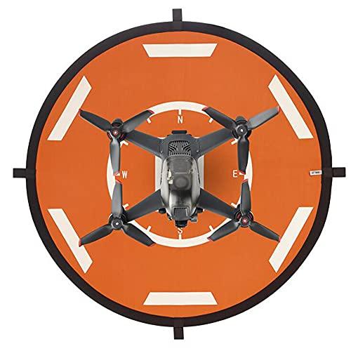 Hsthe Sea Round Shape Drone Landing Pad, Accessori per Droni, Drone Pad Universale Impermeabile Pieghevole Drone Helipad 56Cm/22In, per Air 2S/FPV/Mavic Mini 2/Mavic Air 2 (Blu + Nero)
