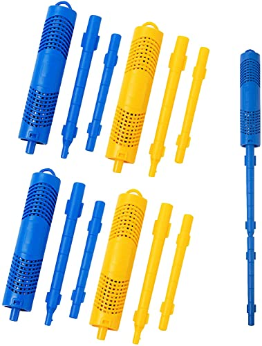 PAMASE 4 Packs Hot Tub Spa in-Filter Mineral Sticks Parts for Hot Tub Spa Swimming Pool Filter Cartridges, Last for 4 Months (Blue & Yellow)