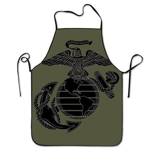 USMC Marine Corps Aprons For Women/men Bacon Tailgate Waitress Cooking Funny Chef Apron