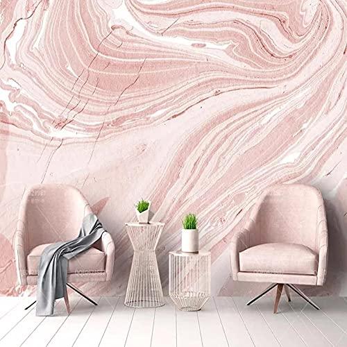 Papel Tapiz Mural Personalizado Arte Abstracto Moderno Piedra Rosa Mármol Foto Murales De Pared Sala De Estar Casa De Boda Romántica 3D Decoración Del Hogar