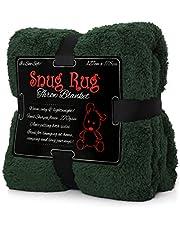Snug Rug Deken deken fleece deken - Original Luxury Sherpa gooien warm fleece (groen)