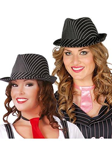 Guirca- Sombrero Ganster Negro Rayas (13367)