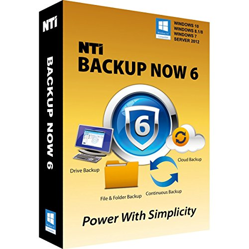 """NTI Backup Now PRO 6 (2-PCs)   The """"Best Buy"""" Award-winning Backup Software   Available in Download and CD-ROM"""