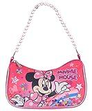 Disney Minnie Mouse Shoulder Handbag With Beaded Strap