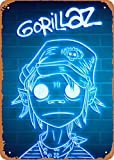 EICOCO Music Gorillaz neon Plaque Poster Metal Tin Sign 8' x 12' Vintage Retro Wall Decor