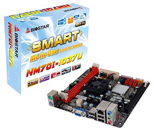 Biostar NM70I-1037U Ver. 6.x Intel NM70 Express Mini ITX - Placa Base (DIMM, DDR3-SDRAM, Dual, Intel, Celeron 1037U, Serial ATA II, Serial ATA III)