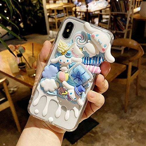 Carcasa hecha a mano para iPhone 12 Pro Max 3D Cinnamoroll iPhone 11 Xs Max Xr Cute Dog Ip 6S Cream Shell 7/8+ DIY Se2 Candy Food