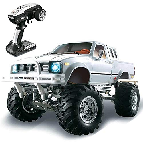 KIKIRon Petite Voiture P407 1/10 2.4G 4 Roues motrices Rallye for TOYATO Voiture Rc 4X4 Pick-up Métal Rock Crawler RTR Toy (Couleur : Blanc, Taille : Taille Unique)