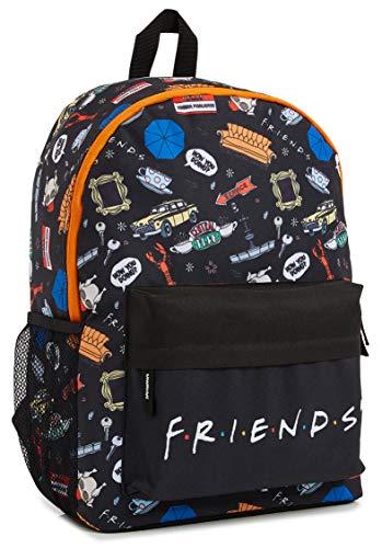 Friends Rucksack Schule, Schulrucksack Mädchen und Jungen, Rucksack Kinder Teenager und Erwachsene, Damen Rucksack Schwarz, Reise Schule und Uni Schultasche, Geschenke für Teenager Mädchen