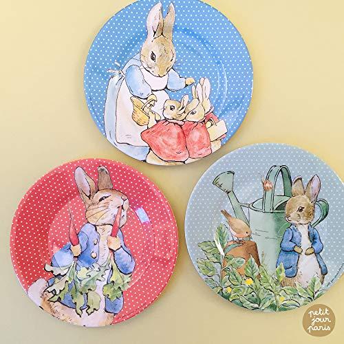 Petit Jour Paris Peter Rabbit - Juego de platos de postre (perfecto para tarta de manzana)