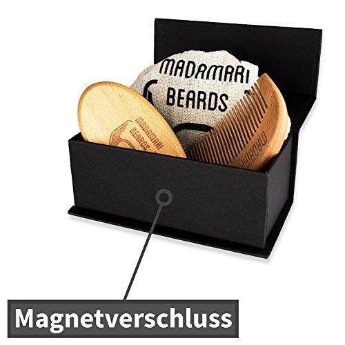 Bartbuerste & Bartkamm, Hochwertiges Bartpflege-Set, Wildschweinborsten Abbildung 3