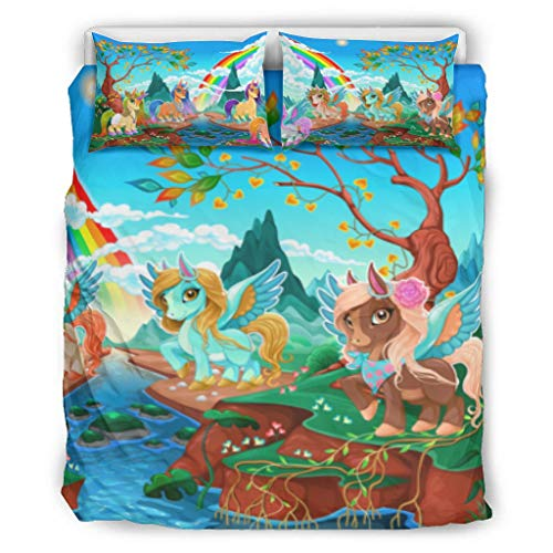 Bohohobo Conjuntos retro 3 piezas almohada unicornio confort ropa de cama estilo europeo color gris decorativo cama almohada conjunto blanco 90x90 pulgadas