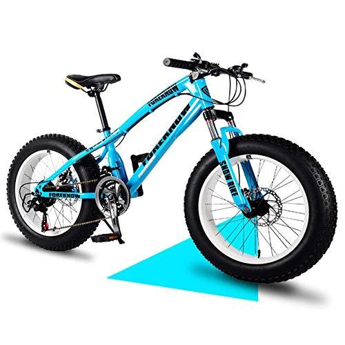 KaiKai 20-Zoll / 24-Zoll / 26-Zoll-Mountainbikes, Hardtail Mountainbike, Kinder/Erwachsene High-Carbon Stahl Mountain Trail Bike, Vorderachsfederung All Terrain Mountainbike, 24 Zoll grau, 7-Gang