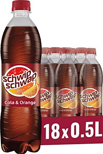 Schwip Schwap, Das Original – Koffeinhaltiges Cola-Erfrischungsgetränk mit Orange (18 x 0,5 l)