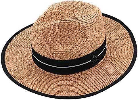 Mens Ladies Fedora Arlington Daily bargain sale Mall Straw Panama Style Summer Fabric Hat Sun