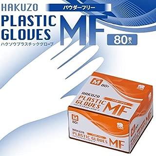 ハクゾウ プラスチックグローブMF パウダーフリー M 80枚入×6箱セット