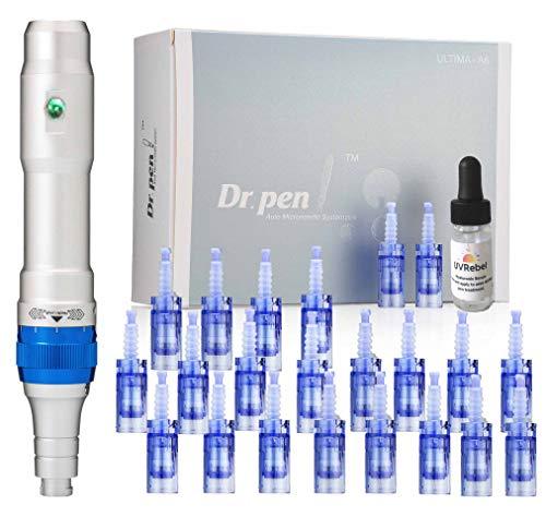 Dr. pen Ultima A6 Microneedling pen 24 Pcs Pin & Nano cartridges, 10 x 36-pin, 14 x Nano & 12 series mixed