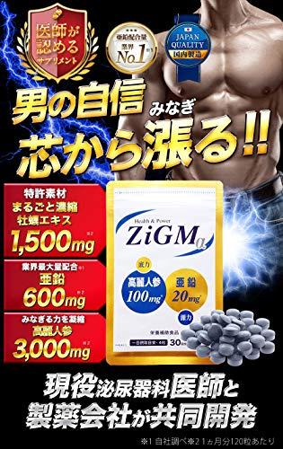 『【亜鉛600mg最高配合】ZiGMα ジグムアルファ 120粒 約1カ月分 現役専門医開発監修 サプリメント』の1枚目の画像