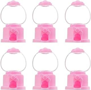 STOBOK 6 Pcs Mini Distributeur de Bonbons Bureau Bulle Gumball Bank Drôle Bonbons Catcher Machines Jouets Party Favors pou...