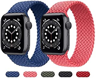 Braid Solo Loop Nylon fabric strap for Apple Watch band 44mm 40mm Elastic Sports Bracelet 38mm 42mm for iWatch Series 6 SE...