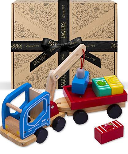 Jaques of London Juguetes de Madera Camión grúa magnético - Juguetes de grúa niños y niñas con Beneficios educativos - Juguetes niños pequeños para 3 4 5 6 7 8 años Desde 1795