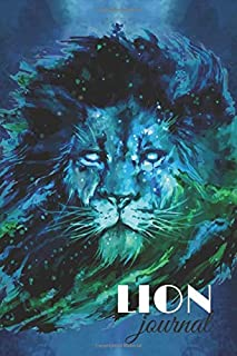 """Lion journal: Spirit Animal Journal notebook gift To Write In, Perfect For Home Or Work, 120 pages, 6x9"""""""