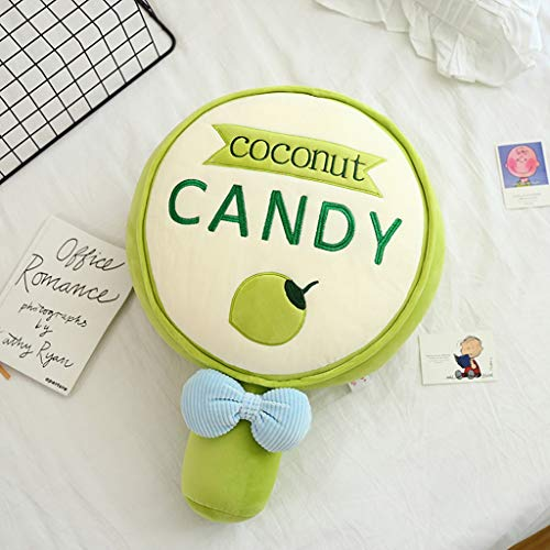 YUTRD Cujux Lindo Caramelo con Almohada Suave Lollipop Almohada Peluche Juguete Dibujos Animados llenado Kids niña Regalo de cumpleaños (Color : Green)