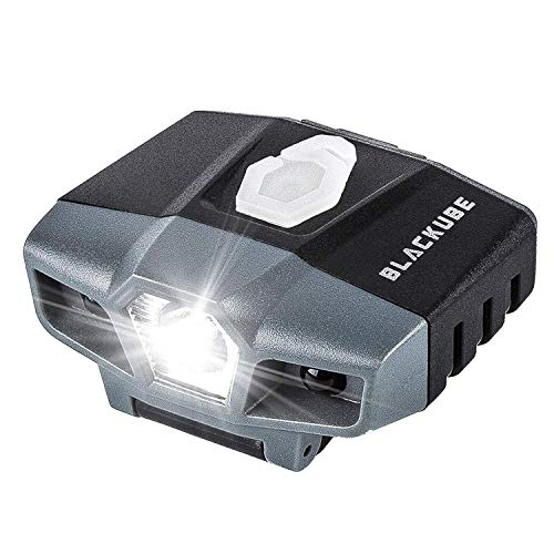 Blackube USB Rechargeable Cap Hat Light Ball Cap Visor Light A Pack - Clip Headlamp Hands Free Rotatable Cree LED Portable Clip on Cap Light for Reading Hunting Fishing Running