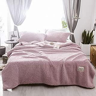 Luxury Faux Fur Sherpa Duvet Cover Queen Light Purple 3 Pcs Set - 1 Comforter Cover, 2 Pillowcases - Zipper Closure Fleece Velvet Flannel Warm Blanket Reversible Fluffy Fuzzy Quilt Case Bedding