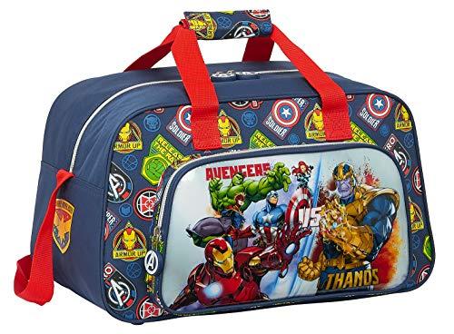 safta Bolsa de Deporte de Avengers Heroes Vs Thanos, 400x230x240mm, azul marino/multicolor, M