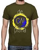 latostadora - Camiseta Pisha para Hombre Army XL