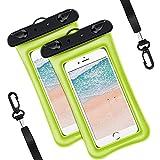 Oihxse 2-Pezzi Custodia Impermeabile Smartphone Sacchetto 7.0 pollici, IPX8 Borsa Subacqueo Waterproof Cellulare Dry Bag Case Cover con Finestre Trasparent Borsetta per Huawei P Smart 2021