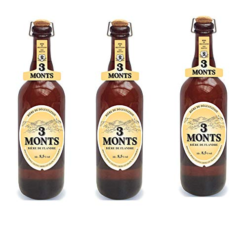 3 Monts Bière de Flandre helles obergähriges Starkbier 3 x 0,75 Ltr. 8,5% mit Sektkorken