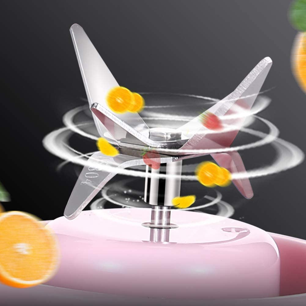 zyl Smoothie Maker Mini mélangeur Portable Rechargeable USB à Six Lames mélangeur Magic Bullet pour jus de Fruits et Smoothie Pink