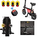 CarryBright Smart Bike TailLight Turn Signal Front and Rear Lights IPX6 Waterproof Warning Light,Remote Control,USB Rechargeable Safety Flashing Light for Cycling Road Bicycle