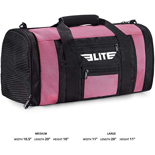 NEW ITEM Elite Sports Ventilated Mesh Duffel Gym Bag (Pink)