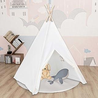 Lektält tunnlar barn tipi-tält med väska persikohud vit 120 x 120 x 150 cm