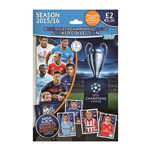 Topps UEFA Champions League 2015/2016 Adhesivo Starter Pack