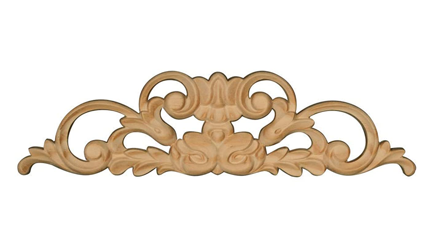 Embossed Wood Decorative Center Ornament in Knotty Pine- 2 1/2