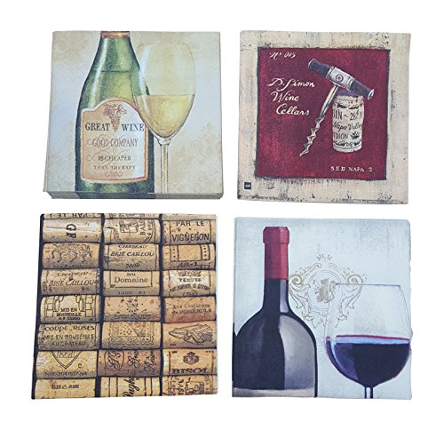 Wine Cocktail Napkins Wine Tasting Party Red White Corks Variety Pack 40 total napkins