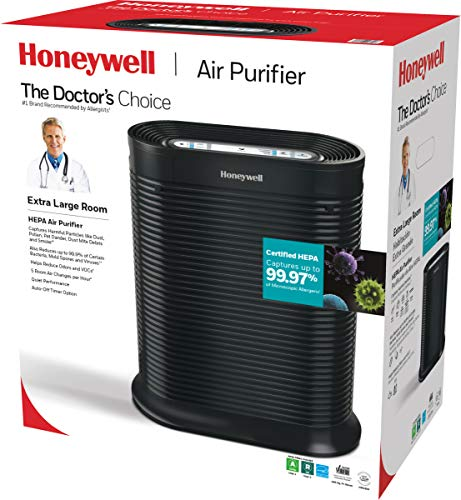 Honeywell HPA300 True HEPA Air Purifier, Extra-Large Room, Black