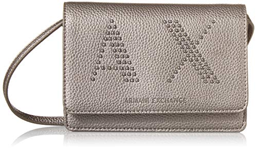 Armani ExchangePebble Studs Crossbody Bag - Wallet on ChainDonnaGun MetalOne Size