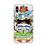 DIYthinker Caja del teléfono de San Juan de Antigua y Barbuda Emblema de Apple iPhone X TPU Flexible Suave Regalo Delgado Cubierta Transparente