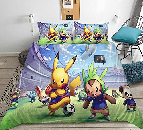 YMYGYR 3D printing anime cute character bedding, duvet cover and pillowcase, the best gift for family, friends and children-A_150x200cm(3pcs)