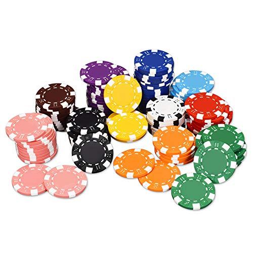DBGA 50PCS / Lot ABS Ficha De Póker del Casino De Juegos De Chips Monedas Fichas De Casino Chips De Tarjetas De Skate 40x3.3mm Fichas De Póquer (Color : 12)